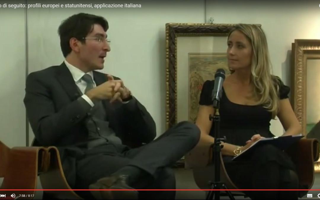Il diritto di seguito: profili europei e statunitensi, applicazione italiana