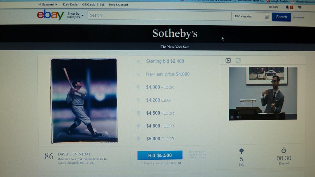 Internet-Auktion von Sothebys